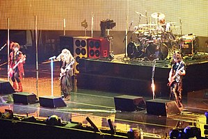 L'Arc-en-Ciel performing at Madison Square Garden on March 25, 2012.