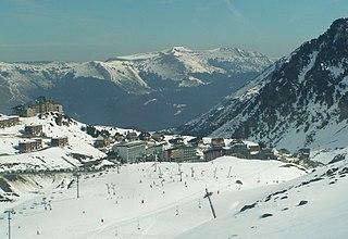 La Mongie ski resort in France