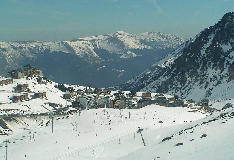 les pistes de ski de la Mongie