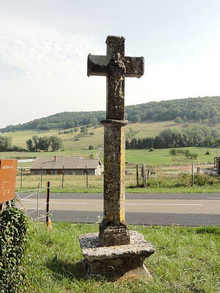 Laneuveville-derrière-Foug (Meurthe-et-M.) croix de chemin B, verso
