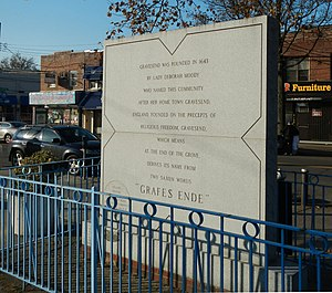 Gravesend, Brooklyn - Lady Deborah Moody memorial