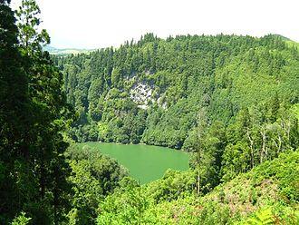 Vila Franca do Campo - A view of the Lagoa da Congro, a volcanic lake that marks the interior of the municipality
