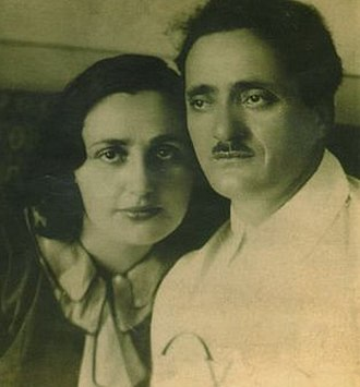 Nestor Lakoba - Lakoba with his wife, Sariya, 1930s.