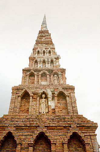 Lamphun Province - The Dvaravati-style chedi of Wat Phra That Hariphunchai