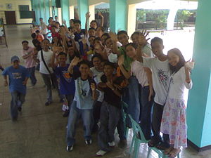 photograph of students from Lamitan City