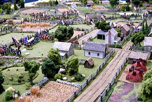 Miniature wargaming - American Civil War miniature battle at the HMGS Cold Wars convention in Lancaster, Pennsylvania.