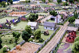"CHARGE! - American Civil War miniature battle presented by the Johnny Reb Gaming Society at the HMGS ""Cold Wars"" convention in Lancaster, Pennsylvania."