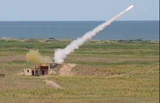 Mistral (missile) - Mistral missile launch during a joint French-Romanian military exercise. (Capu Midia firing range).