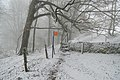 Lansdown Hill footpath in snow, near Sir Bevil Grenville's monument.jpg