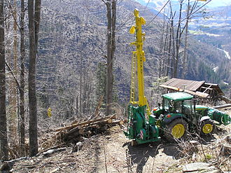 Cable logging in French Alps (cable grue Larix 3T) Larix3T.JPG