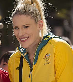 Lauren Jackson - Jackson at the Welcome Home parade in Sydney in 2012