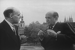 Jan Masaryk - Jan Masaryk with Laurence Steinhardt, the United States Ambassador to Czechoslovakia.