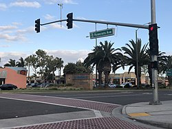 Intersection of Rosecrans Ave. and Hawthorne Blvd.