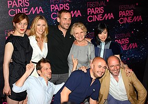 Nicolas & Bruno -  Nicolas Charlet and Bruno Lavaine in the company of their actors, at the Parisian Premiere of 'The Big Bad Wolf.