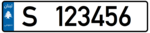 Lebanon - License Plate - Private Sidon - EU Size.png