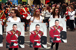 Lee Rigby Manchester tribute1