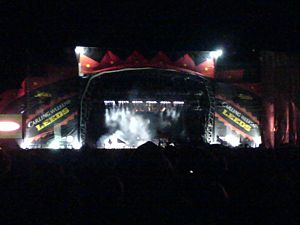 Music in Leeds - Leeds Main Stage on 25 August 2007 in-between sets by Kings of Leon and Razorlight in the carling festival