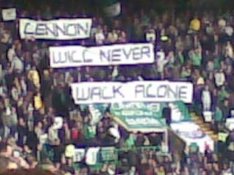 Green Brigade - Banners paying tribute to Neil Lennon, March 2011