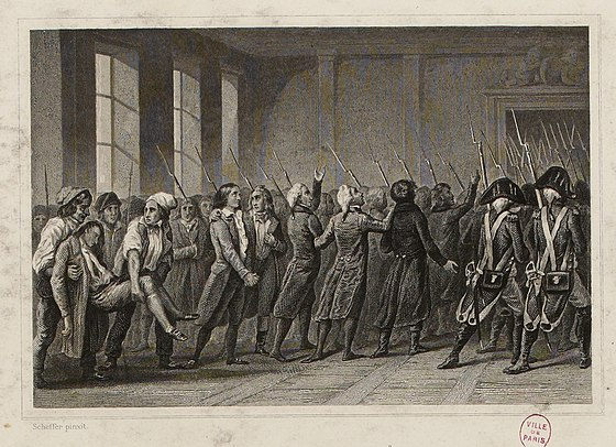 Arrest of the Girondins at the National Convention on 2 June 1793 Les Girondins marchent a la mort.jpg