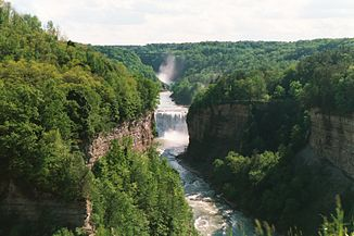 Letchworth State Park - Middle Falls am Genesee River
