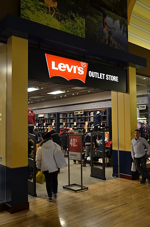Levi Strauss & Co. - A Levi's outlet store in Vaughan Mills, a mall in Vaughan, Ontario, Canada