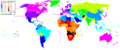 Life Expectancy 2008 Estimates CIA World Factbook.png