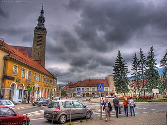Limanowa - Market Square in Limanowa