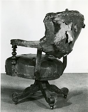 Cooper Hewitt, Smithsonian Design Museum - A chair used by Abraham Lincoln when he visited the Cooper Union in 1860. This is before it was reupholstered in 1949.