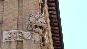 Palazzo Cesi-Armellini - Image: Lions Head Of Palazzo Cesi In Rome