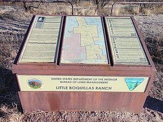 Little Boquillas Ranch - Image: Little Boquillas Ranch Historical Marker Fairbank Arizona 2015