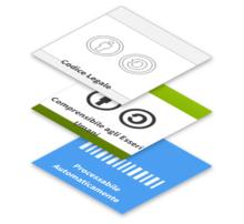"""I tre """"livelli"""" delle licenze Creative Commons: codice legale, testo comprensibile agli esseri umani e codice processabile automaticamente."""