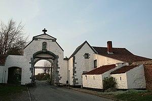 Lobbes Abbey - Image: Lobbes La Portelette JPG1