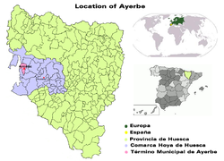 Location of Ayerbe