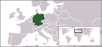 Location of Germany within Europe