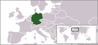 A map showing the location of Germany