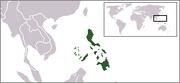 Localización de Filipinas