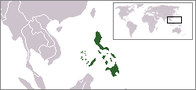 A map showing the location of Philippines