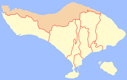 Location of Buleleng Regency in Bali