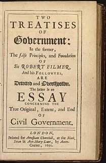 <i>Two Treatises of Government</i> work of political philosophy by John Locke