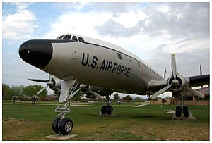 """Front view of a Lockheed C-121 """"Constella..."""