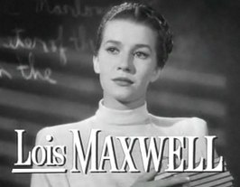 Lois Maxwell in 1947