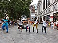 London - Leicester Square, street performers dancing on Gangnam Style song.jpg