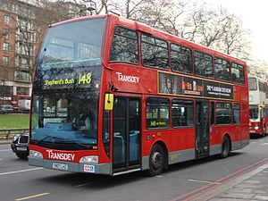 Optare Olympus - An East Lancs Olympus on a Scania N UD chassis operating for Transdev London.