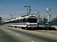 A Blue Line train in Long Beach.
