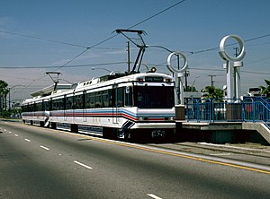 Southbound Train At Pacific Coast Highway In The 1990s