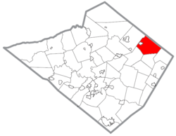 Location of Longswamp Township in Berks County