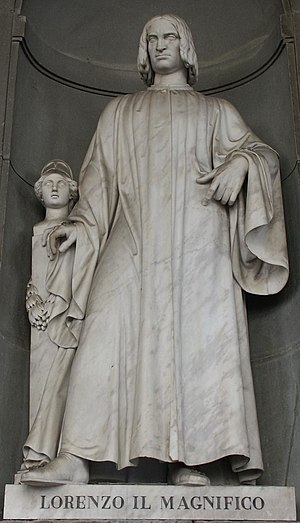"Platonic Academy (Florence) - Lorenzo de' Medici, named ""il Magnifico"" (piazzale degli Uffizi)"