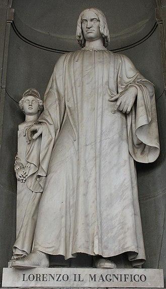 Loggiato of the Uffizi - Image: Lorenzo il magnifico