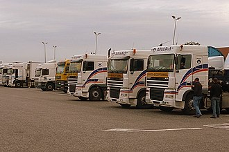 Murder of Celine Figard - The lorry park of Chieveley Services in 2008. Figard was last seen alive here on the afternoon of 19 December 1995.
