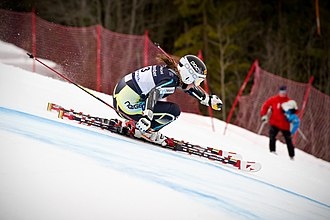 Giant slalom - Olympian Lotte Smiseth Sejersted in a GS race